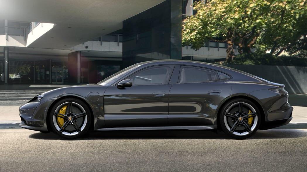 2020 Porsche Taycan in Volcano Grey Metallic