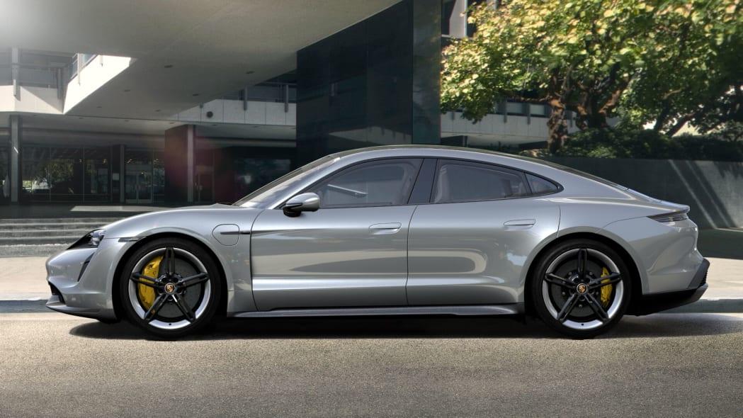 2020 Porsche Taycan in Dolomite Silver Metallic
