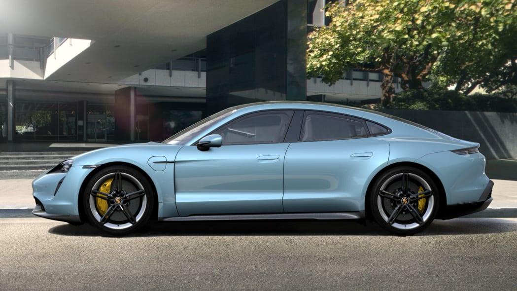 2020 Porsche Taycan in Frozen Blue Metallic