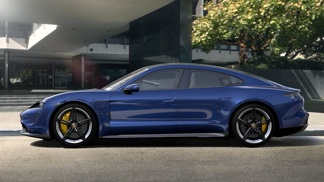 2020 Porsche Taycan in Gentian Blue Metallic