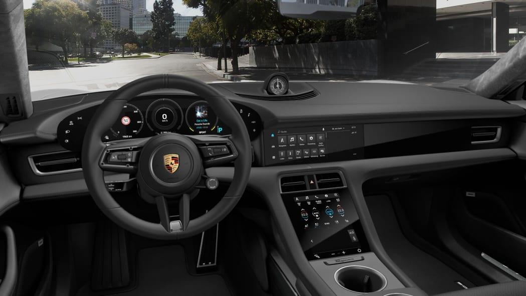 2020 Porsche Taycan black leather interior