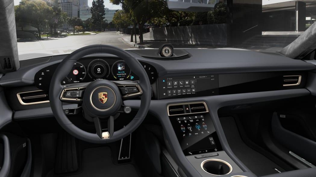 2020 Porsche Taycan Olea Club black leather interior