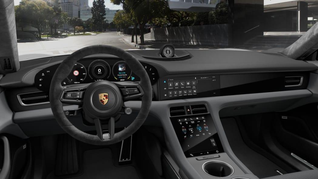 2020 Porsche Taycan grey Race-Tex interior