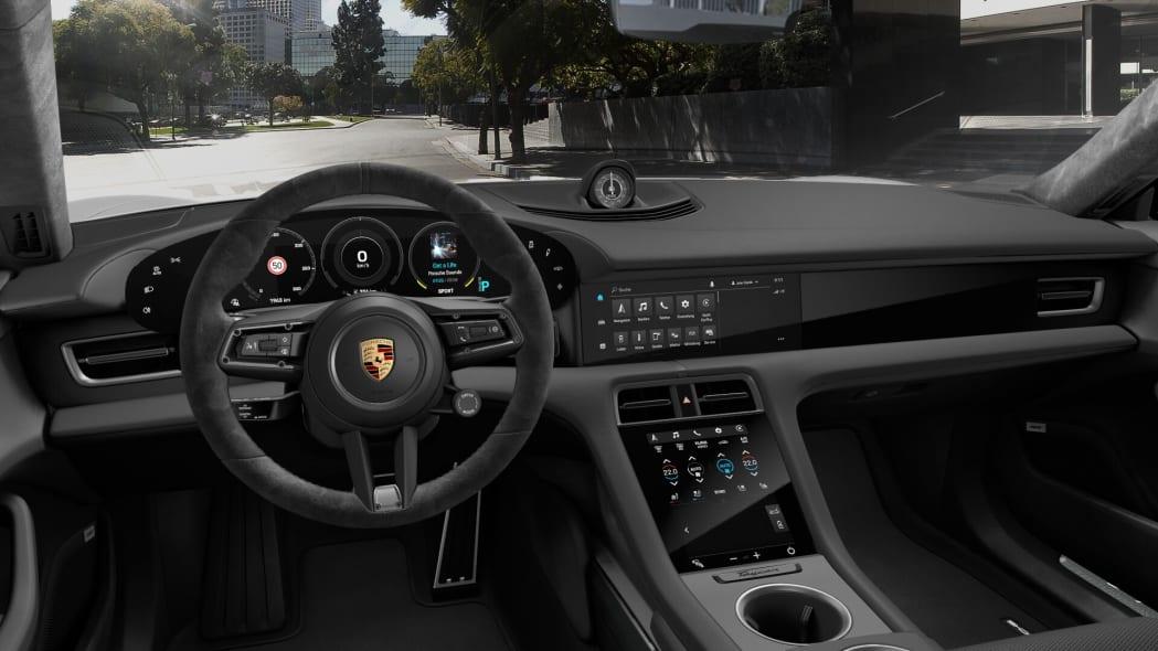 2020 Porsche Taycan black Race-Tex interior