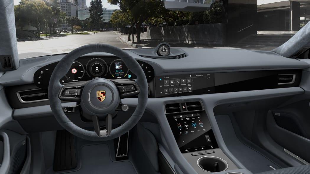 2020 Porsche Taycan Graphite Blue Race-Tex interior