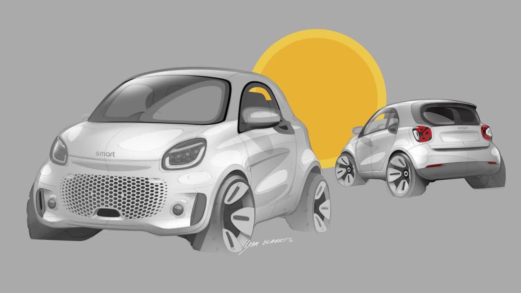 Die neue Generation: smart EQ fortwo und forfourThe new generation: smart EQ fortwo and forfour