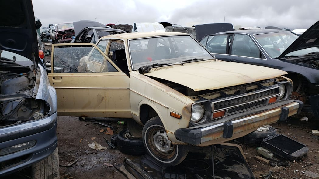 18 - 1979 Datsun 210 in Colorado junkyard - Photo by Murilee Martin