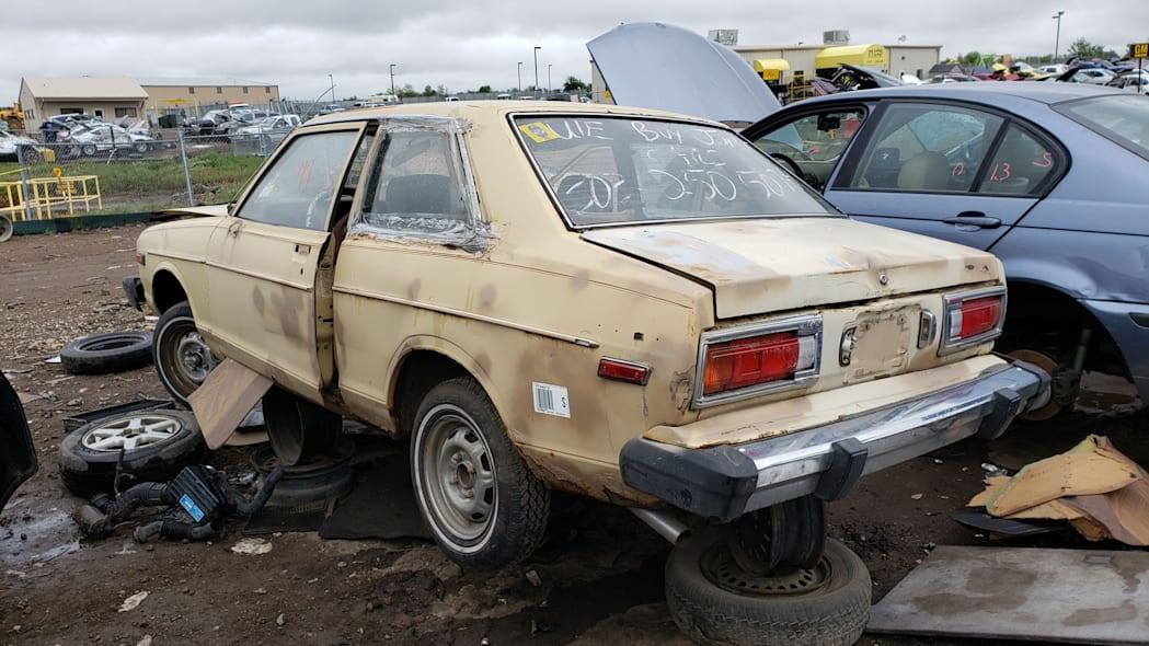 36 - 1979 Datsun 210 in Colorado junkyard - Photo by Murilee Martin