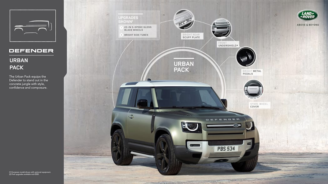 2020 Land Rover Defender accessory pack