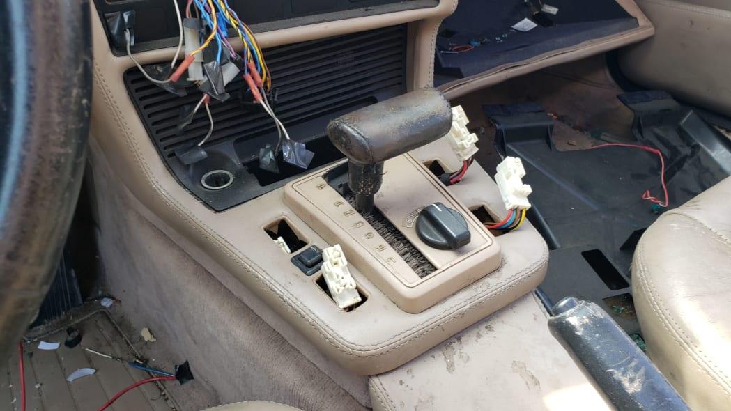 08 - 1989 BMW 635CSi in California wrecking yard - photo by Murilee Martin