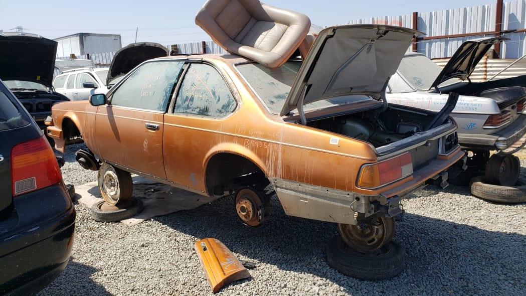 10 - 1989 BMW 635CSi in California wrecking yard - photo by Murilee Martin