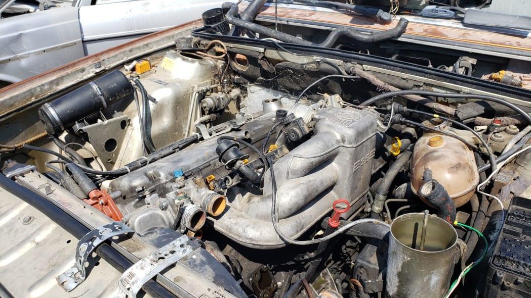 16 - 1989 BMW 635CSi in California wrecking yard - photo by Murilee Martin