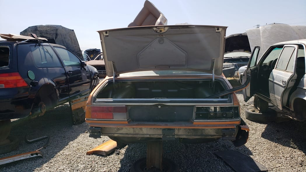 26 - 1989 BMW 635CSi in California wrecking yard - photo by Murilee Martin