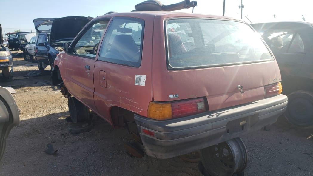 18 - 1990 Daihatsu Charade in Colorado junkyard - Photo by Murilee Martin