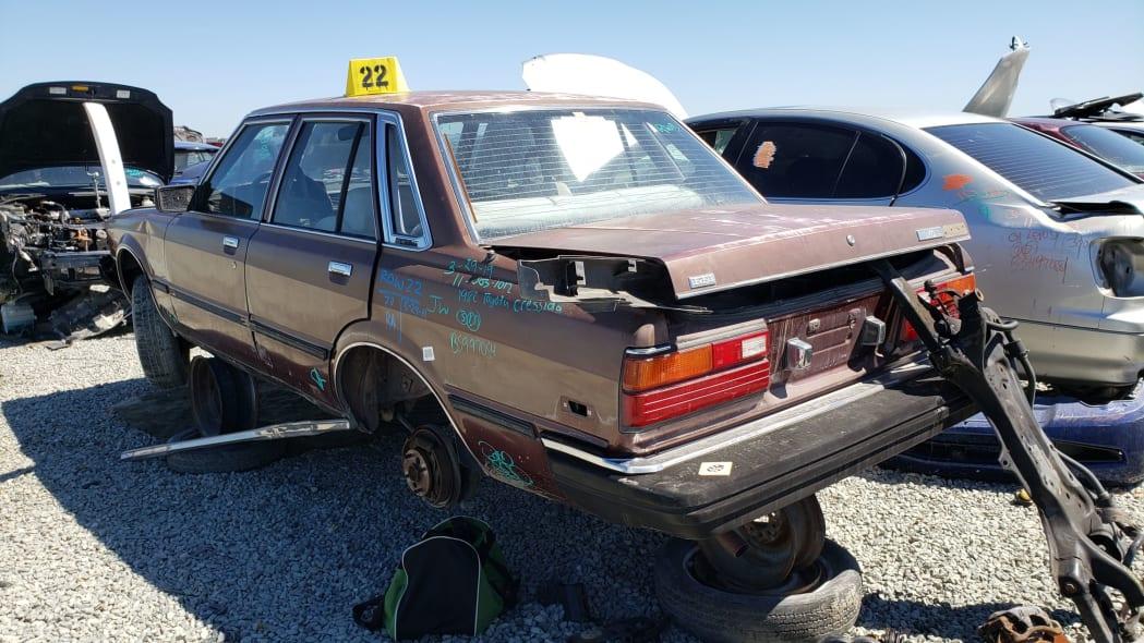 27 - 1982 Toyota Cressida in California wrecking yard - photo by Murilee Martin