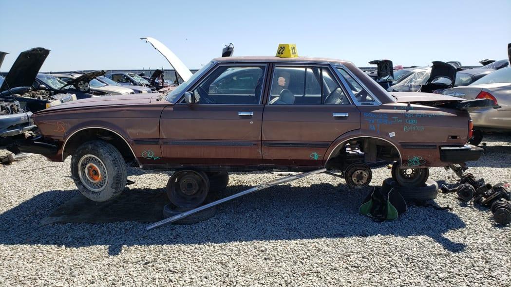29 - 1982 Toyota Cressida in California wrecking yard - photo by Murilee Martin