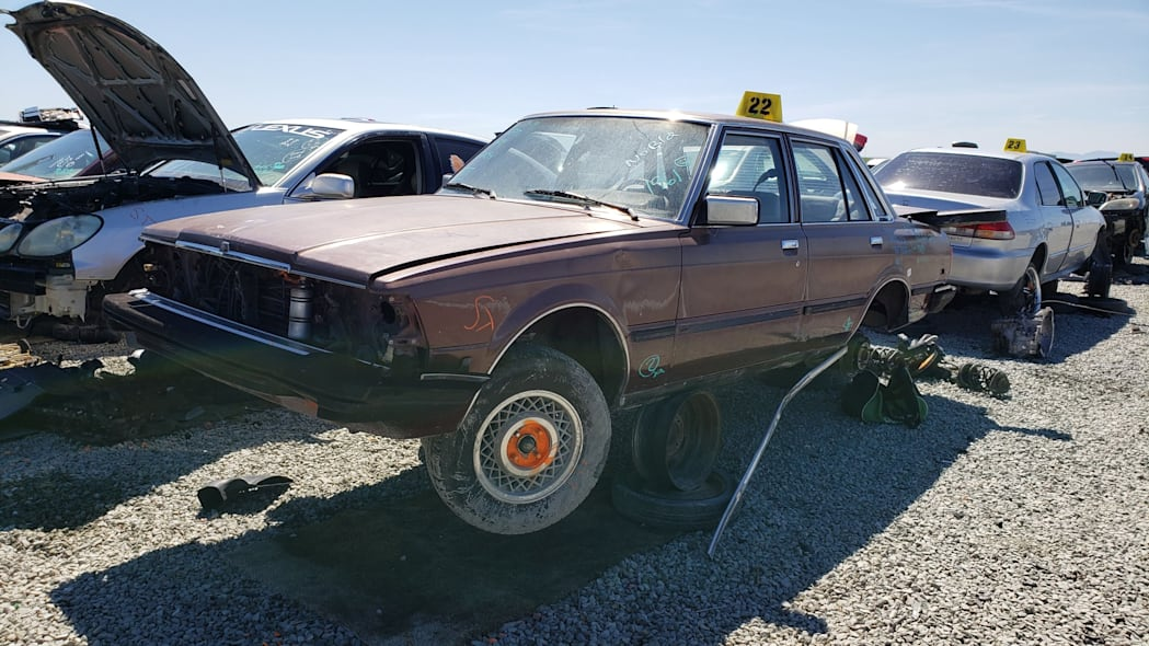 32 - 1982 Toyota Cressida in California wrecking yard - photo by Murilee Martin