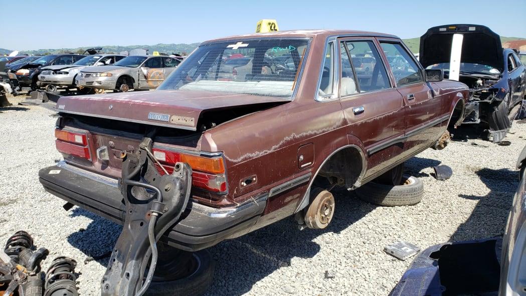 39 - 1982 Toyota Cressida in California wrecking yard - photo by Murilee Martin