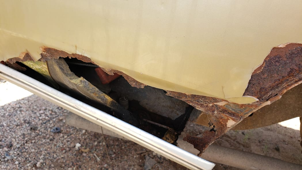 55 - 1971 Chevrolet Impala in Colorado wrecking yard - photo by Murilee Martin