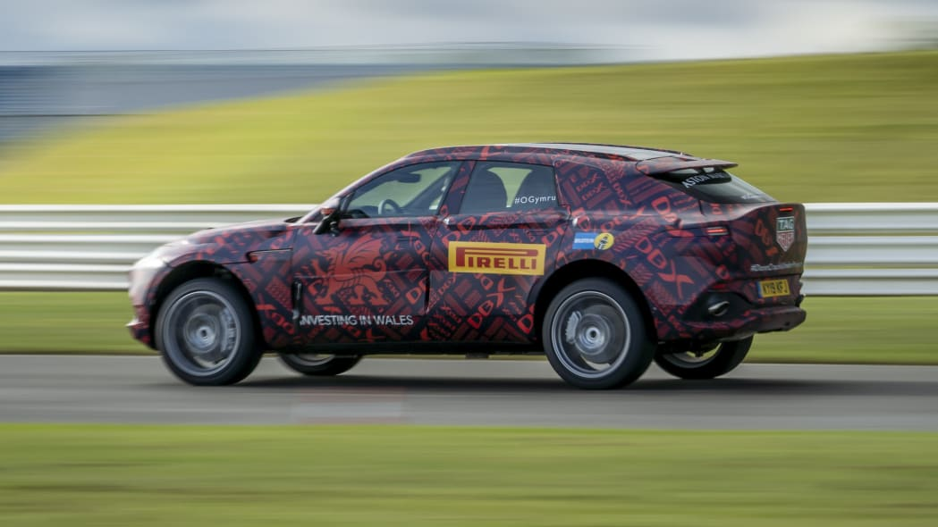 2020 Aston Martin DBX prototype in camouflage