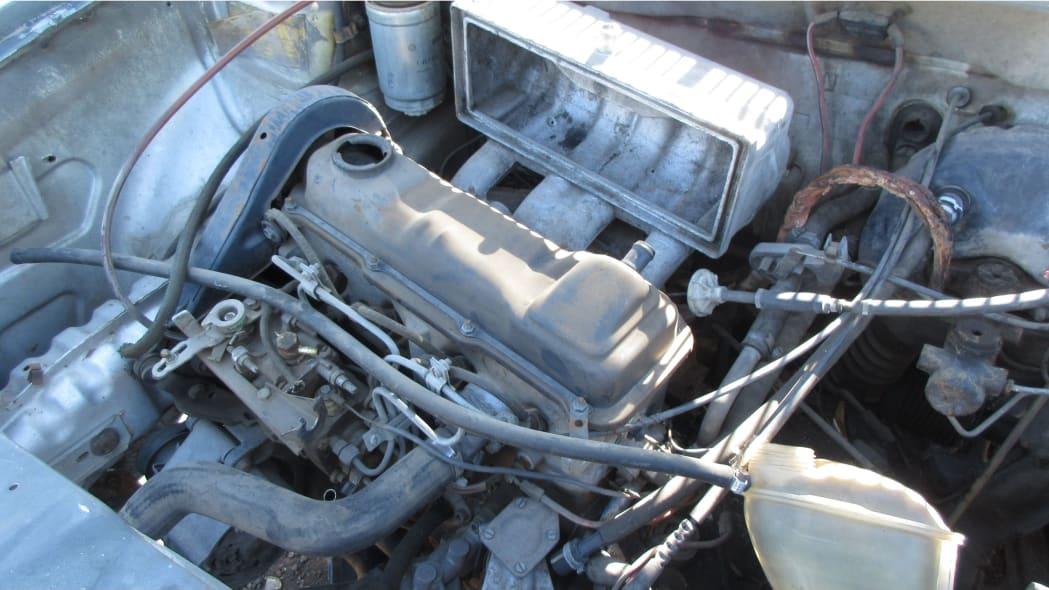 04 - 1981 Volkswagen Rabbit pickup in Colorado wrecking yard - photo by Murilee Martin
