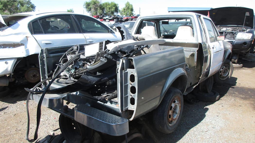 08 - 1981 Volkswagen Rabbit pickup in Colorado wrecking yard - photo by Murilee Martin