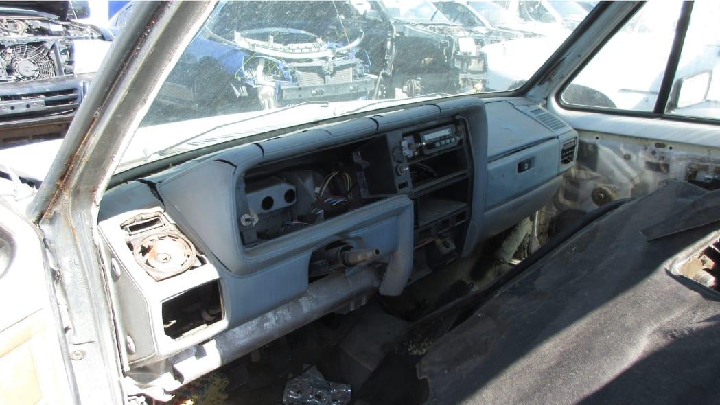15 - 1981 Volkswagen Rabbit pickup in Colorado wrecking yard - photo by Murilee Martin