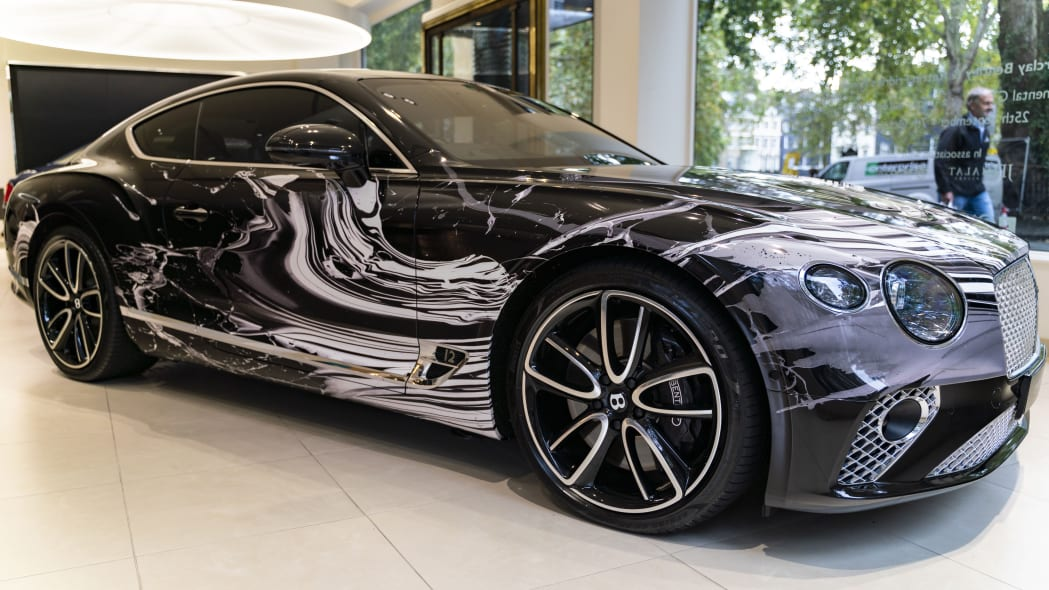 Bentley Continental GT art car is meant to move while standing still