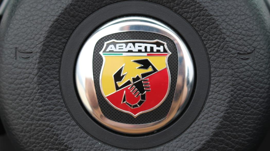 2019 Fiat 124 Spider Abarth steering wheel badge
