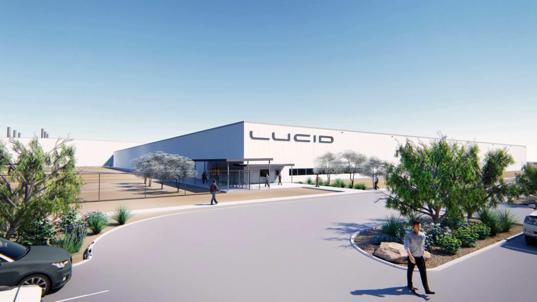 Renderings of the Lucid Motors Factory in Casa Grande, Arizona