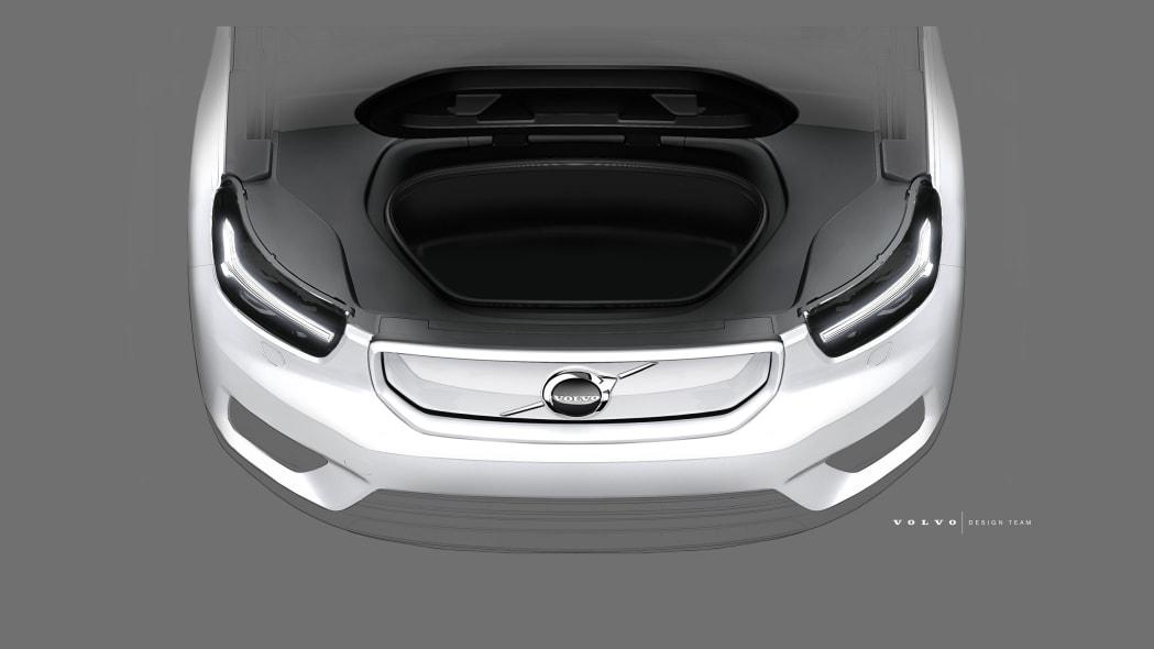 Volvo XC40 BEV design sketch
