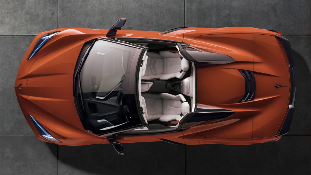 2020 Chevrolet Corvette Stingray Convertible in orange