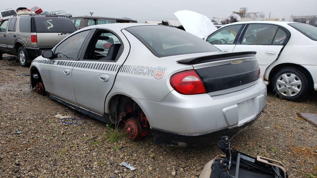 29 - 2005 Dodge Neon in North Dakota wrecking yard - photograph by Murilee Martin