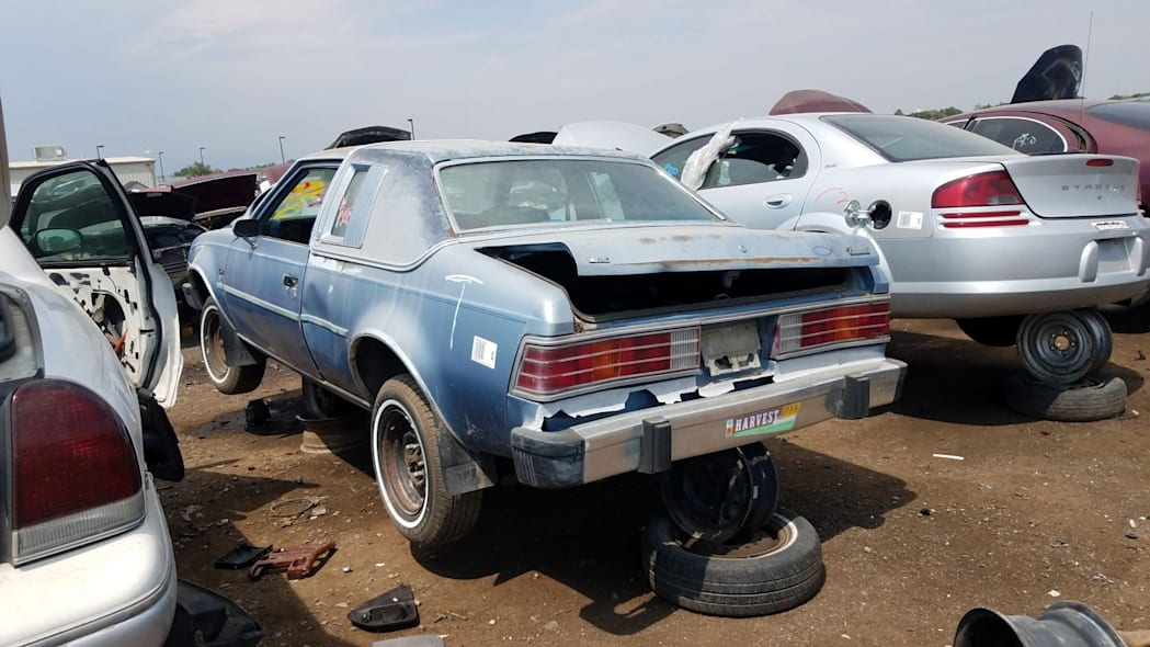 28 - 1980 AMC Concord in Colorado wrecking yard - photo by Murilee Martin