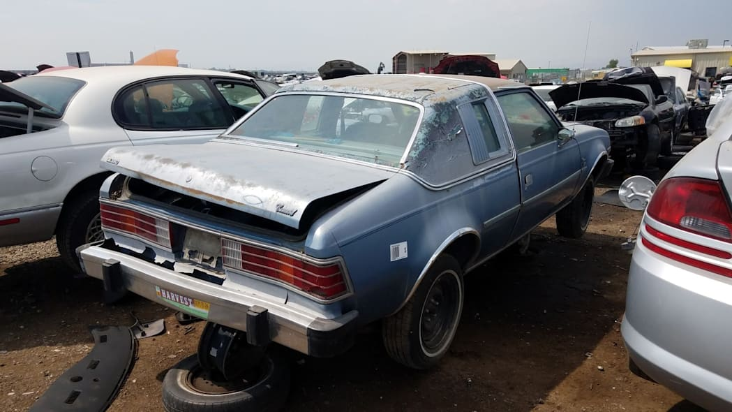 32 - 1980 AMC Concord in Colorado wrecking yard - photo by Murilee Martin