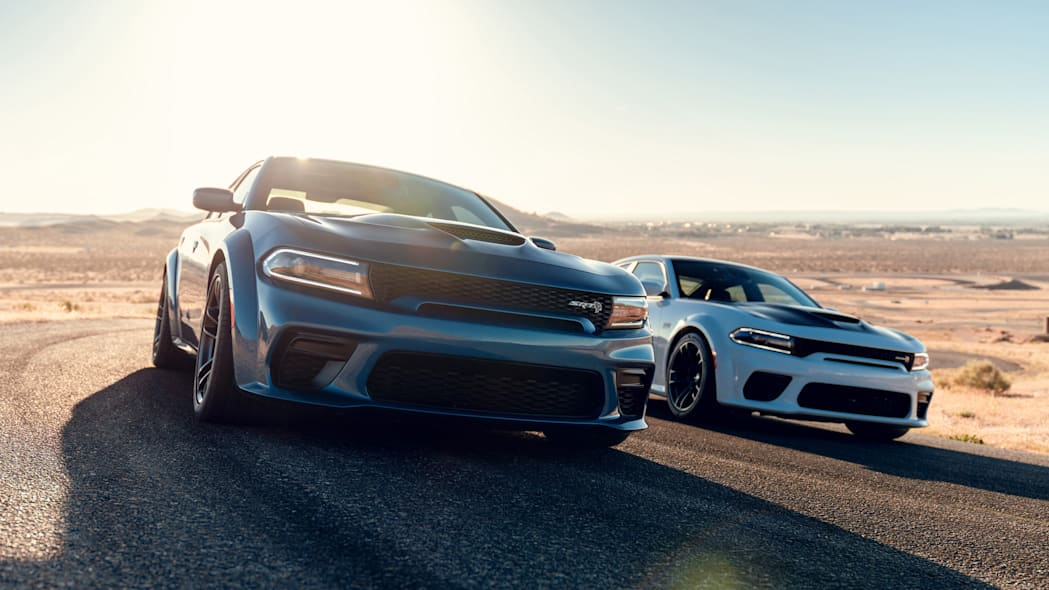 2020 Dodge Charger SRT Hellcat Widebody (Left) and 2020 Dodge Ch