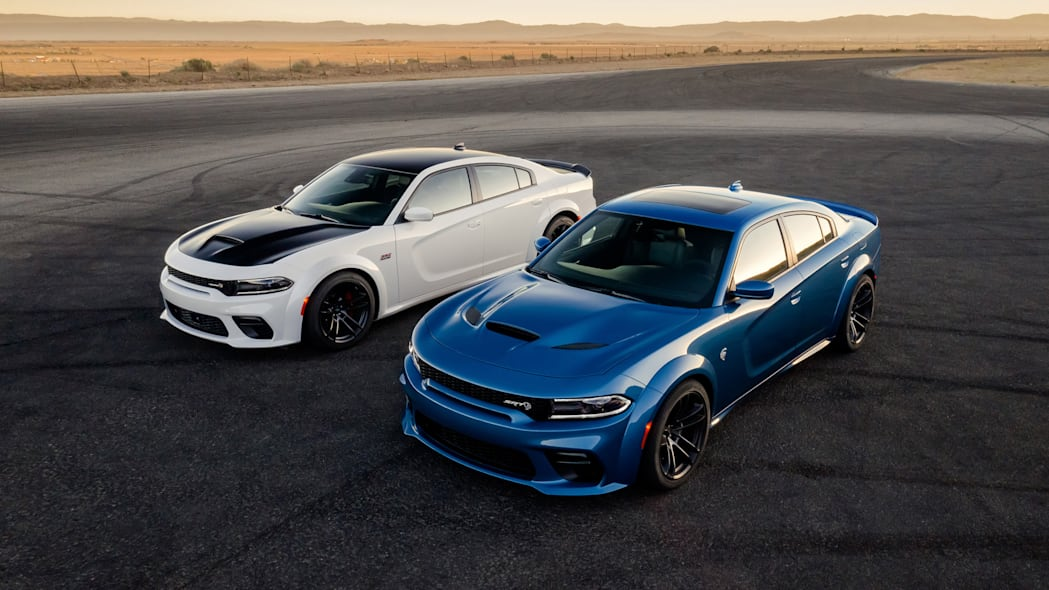 2020 Dodge Charger Scat Pack Widebody (Left) and 2020 Dodge Char