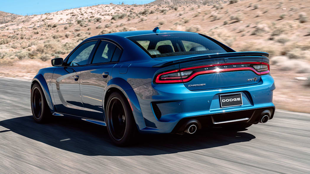 A new rear spoiler, unique to the 2020 Dodge Charger SRT Hellcat