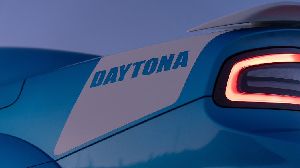 As a nod to its design heritage, the Charger Daytona 50th Annive