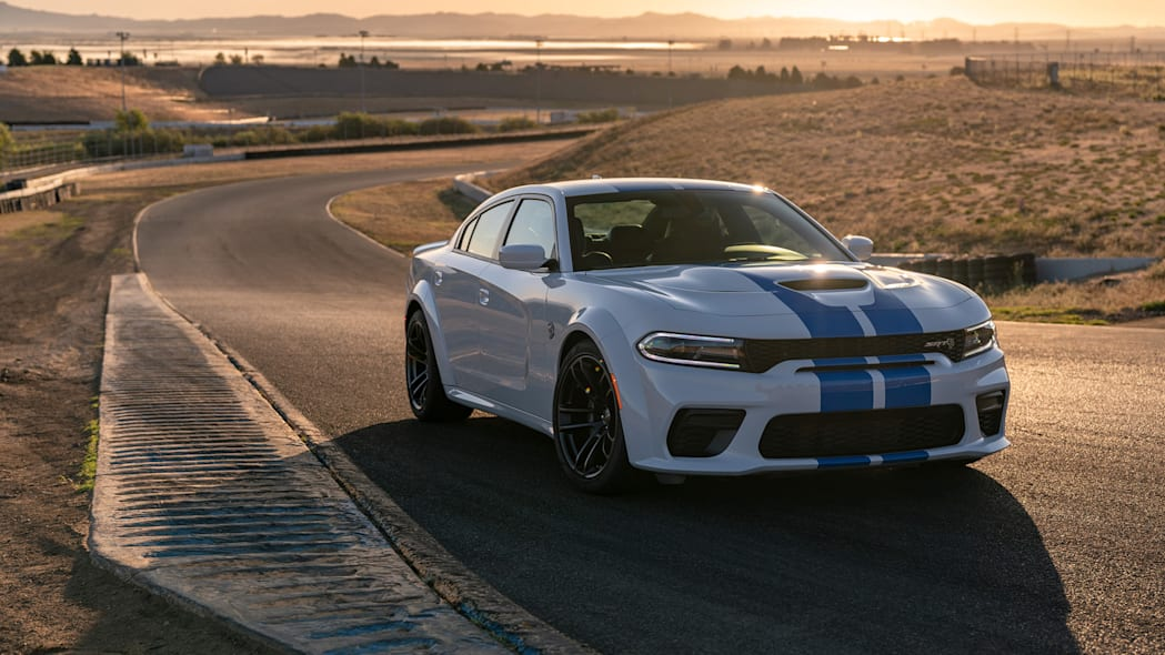 The 2020 Dodge Charger SRT Hellcat Widebody is powered by the pr