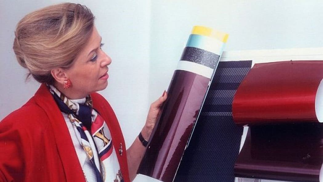 Gunhild Liljequist with paint samples