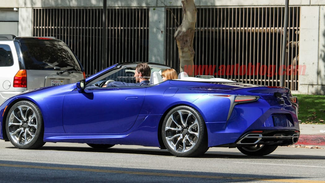 Lexus LC Convertible on photo shoot