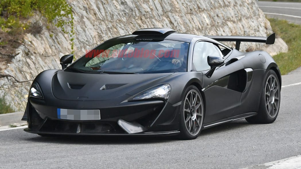 McLaren 620R spied looking cooler than the race car