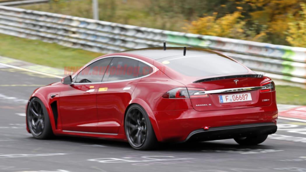 Tesla Model S Nurburgring prototype