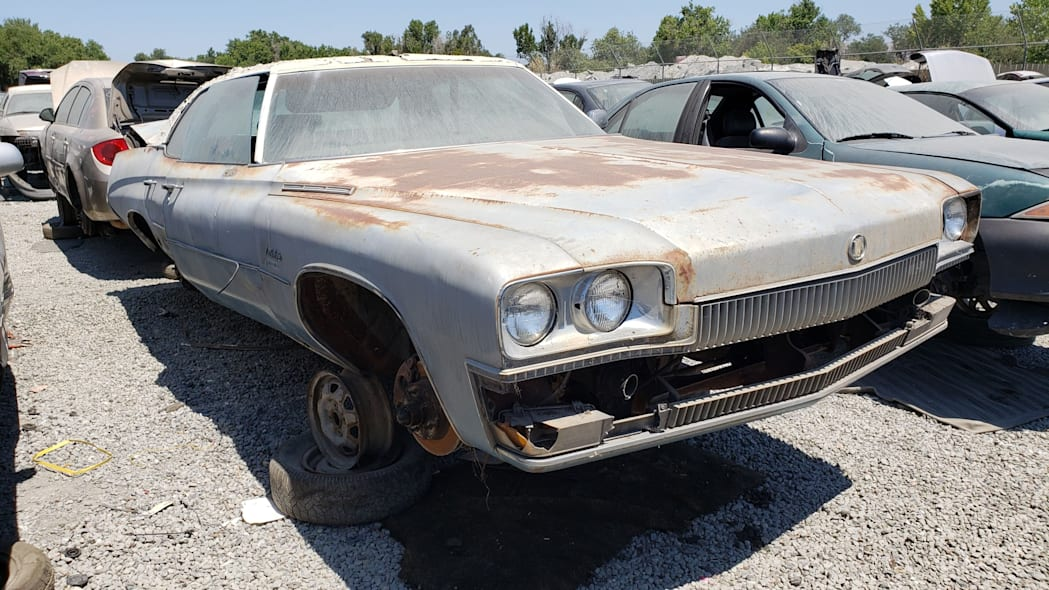 00 - 1973 Buick LeSabre in California wrecking yard - photo by Murilee Martin