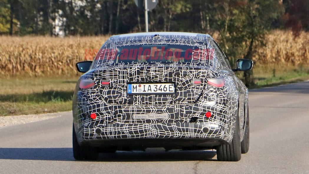 BMW i4 spied