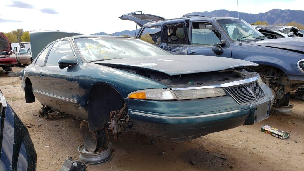 00 - 95 Lincoln Mark VIII in Colorado junkyard - photo by Murilee Martin