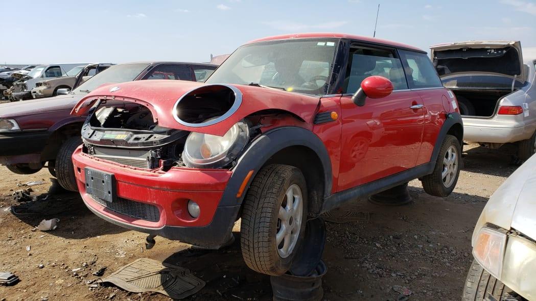 19 - 2007 Mini Cooper in Colorado junkyard - photo by Murilee Martin