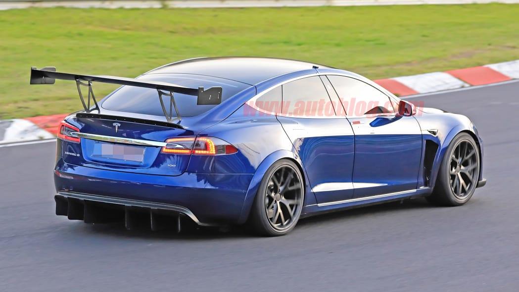 Tesla Model S Nurburgring massive wing