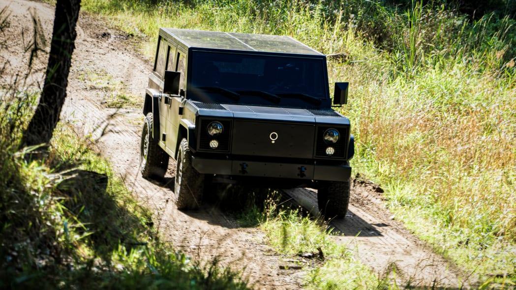 Bollinger Motors B1 3-4 driving outdoors